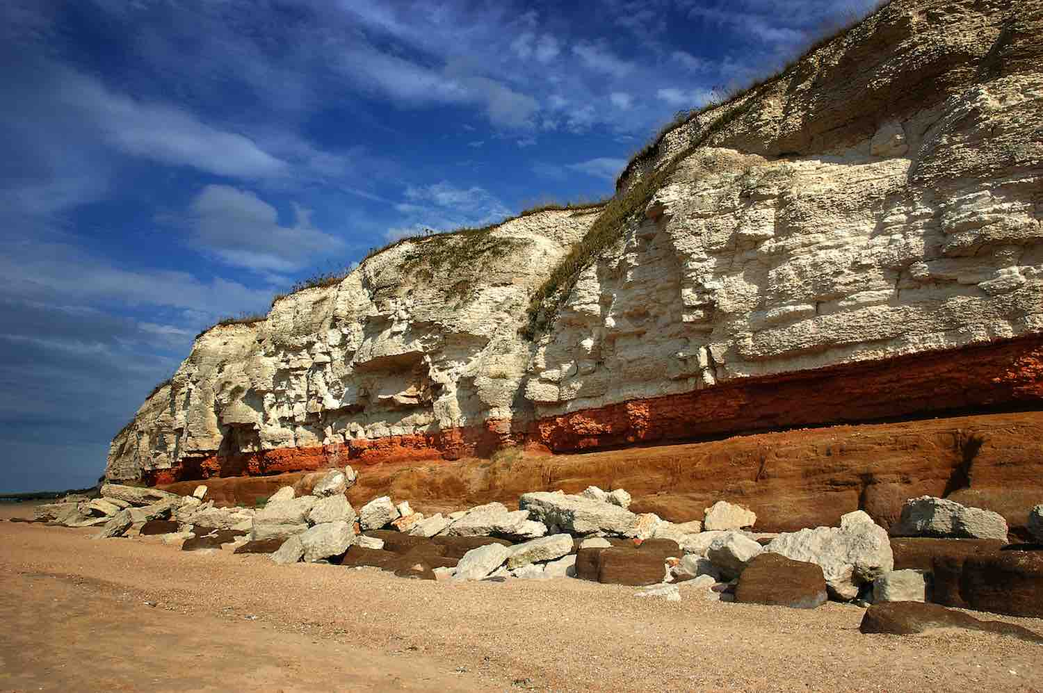 Inglaterra - The Norfolk Coast Path stretches from Hunstanton in the west to Cromer in the east.