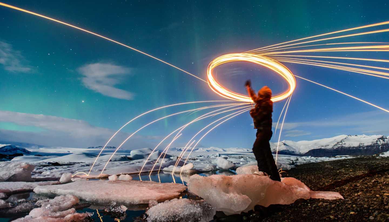 Islandia - Nothern Lights, Jokulsarlon, Iceland