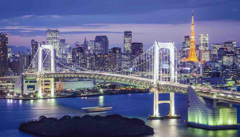 Japón - Tokyo, Japan at Tokyo Bay.