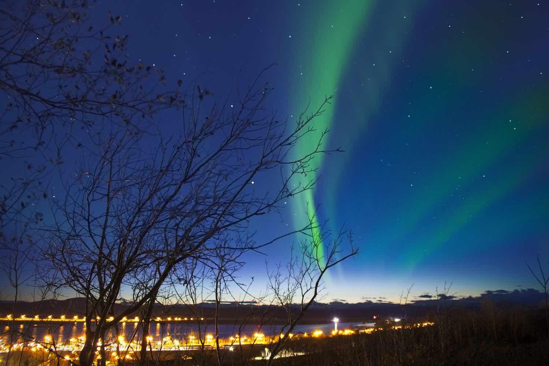Suecia - The northern lights in Kiruna, Sweden