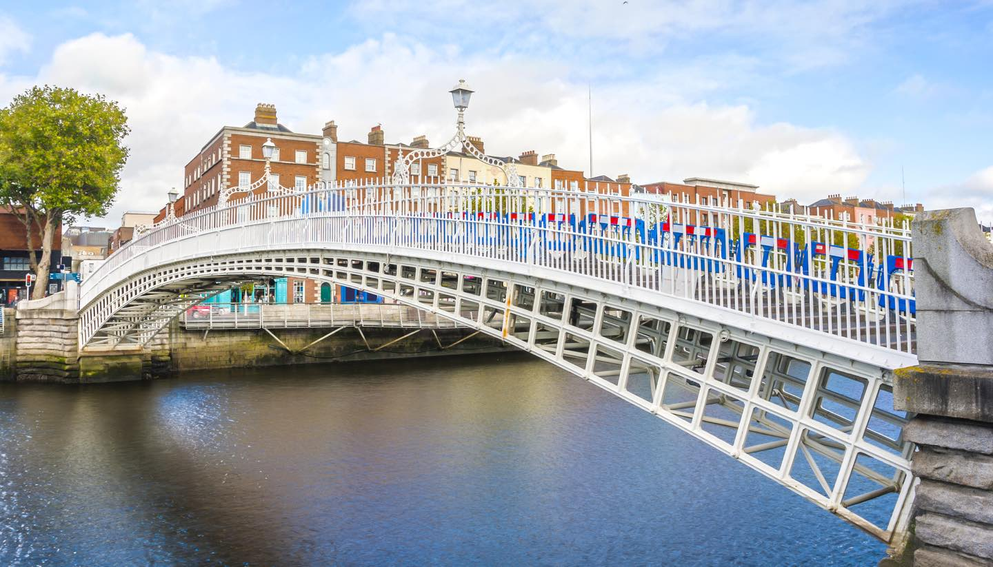 Dublín - Ha penny Bridge, Dublin, Ireland