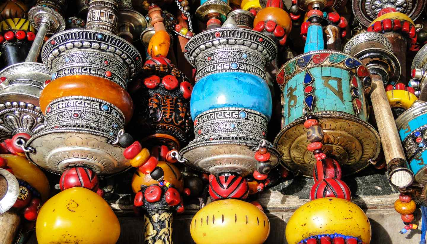 Tibet - Prayer wheels, Tibet