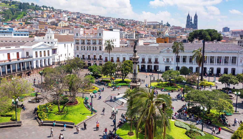 Ecuador - Plaza Grande in Quito, Ecuador