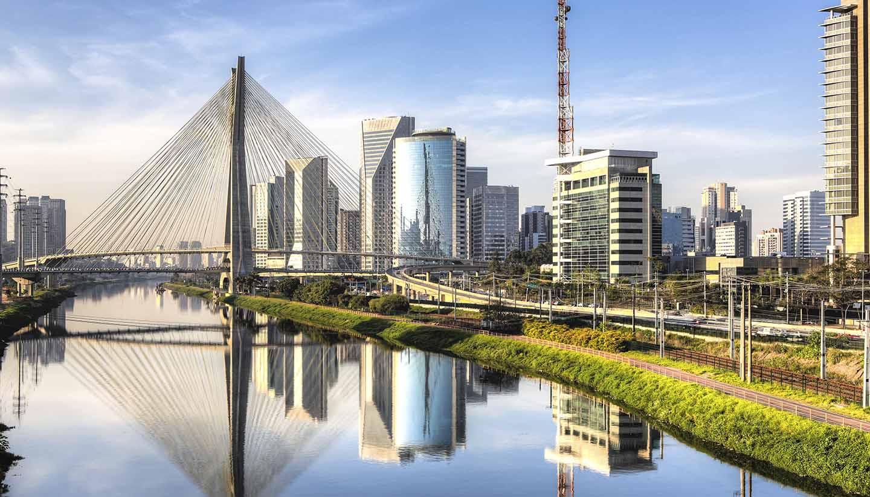 Brasil - Ponte Estaiada, Sao Paulo, Brazil