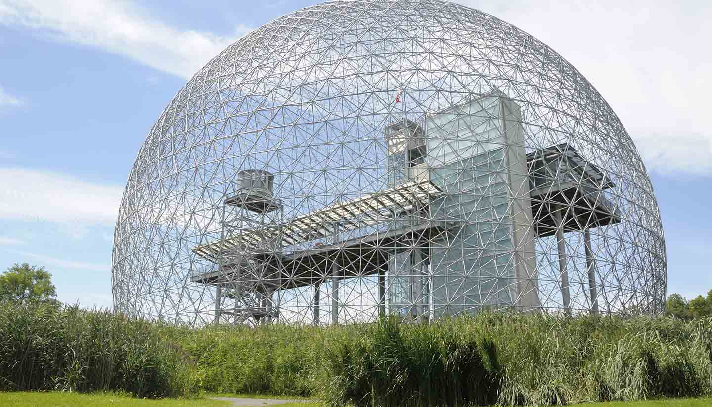 Canadá - Biosphere in the city of Montreal, Canada