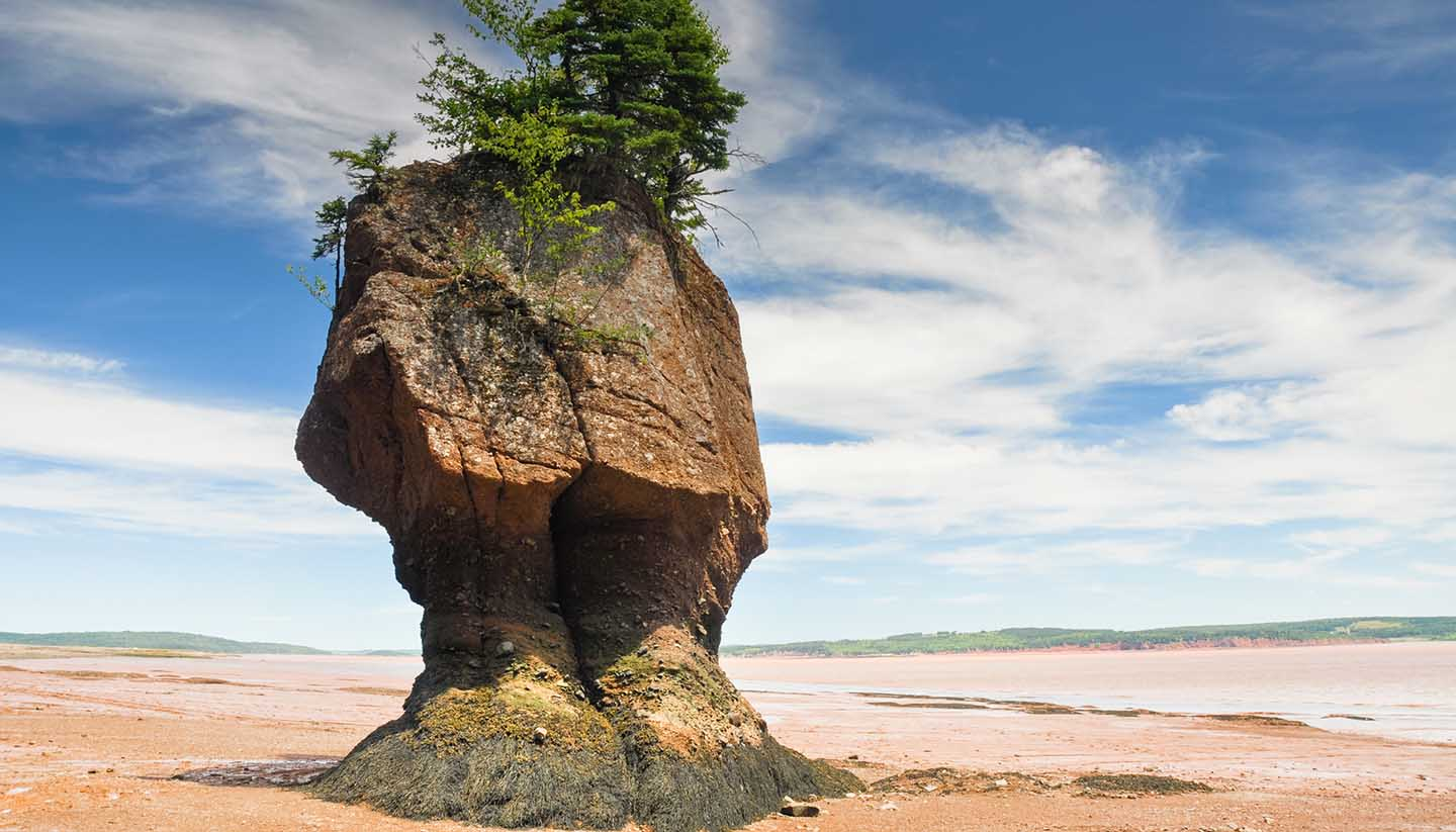 Canadá - Hopewell Rocks, New Brunswick