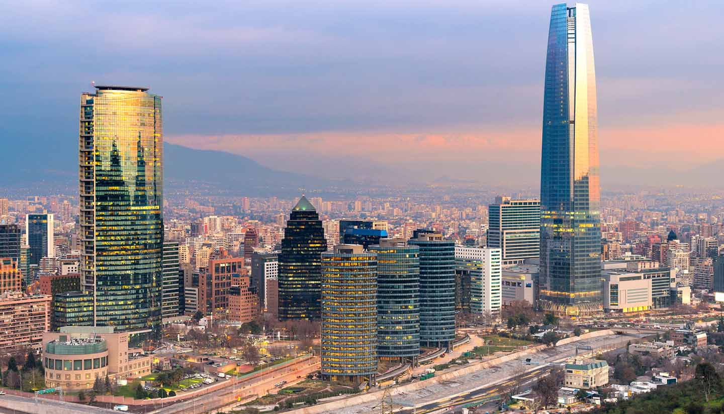 Chile - Skyline of Santiago, Chile
