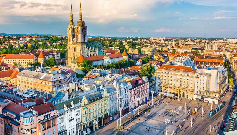 Croacia - Zagreb Aerial View, Croatia