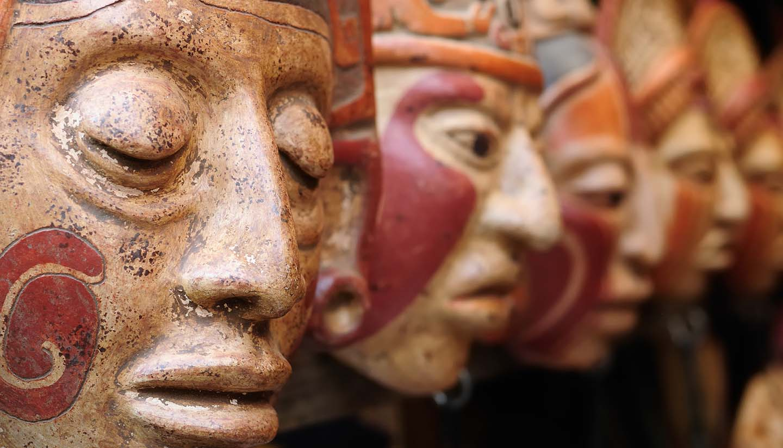 Guatemala - Mayan Clay Masks, Guatemala.