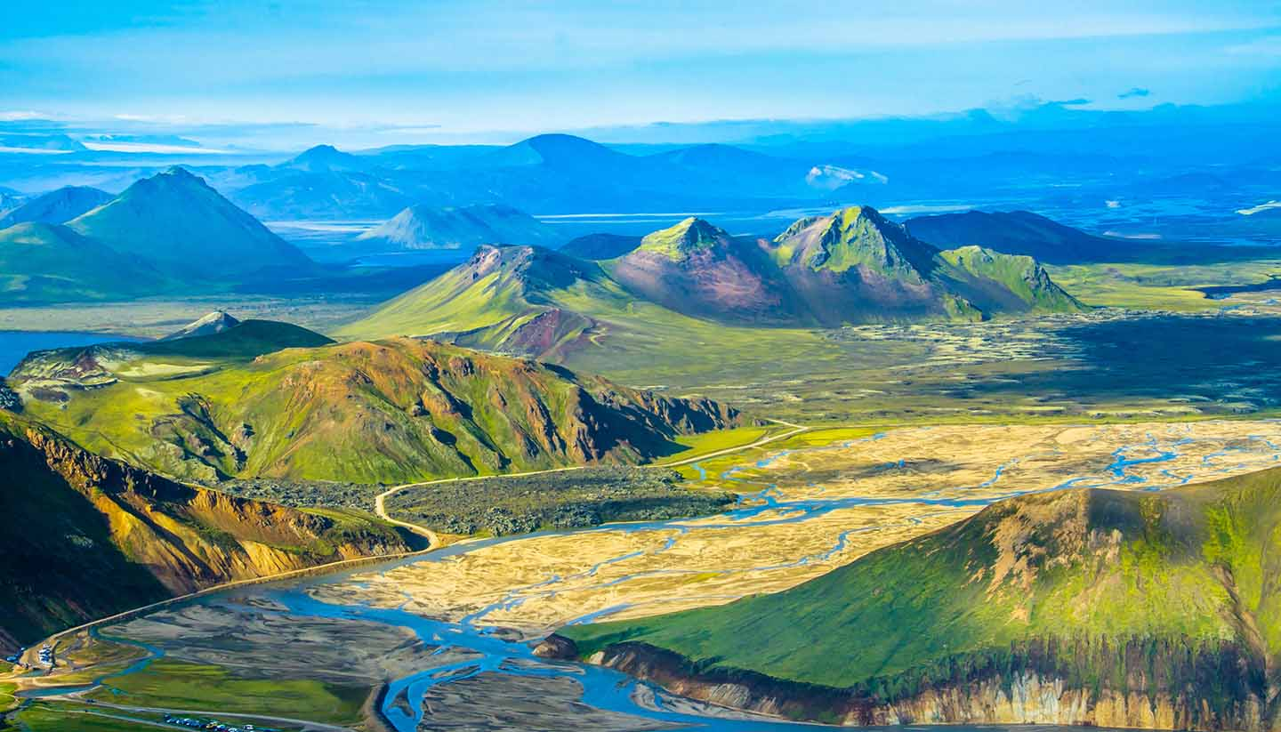 Islandia - Green mountainous, Iceland