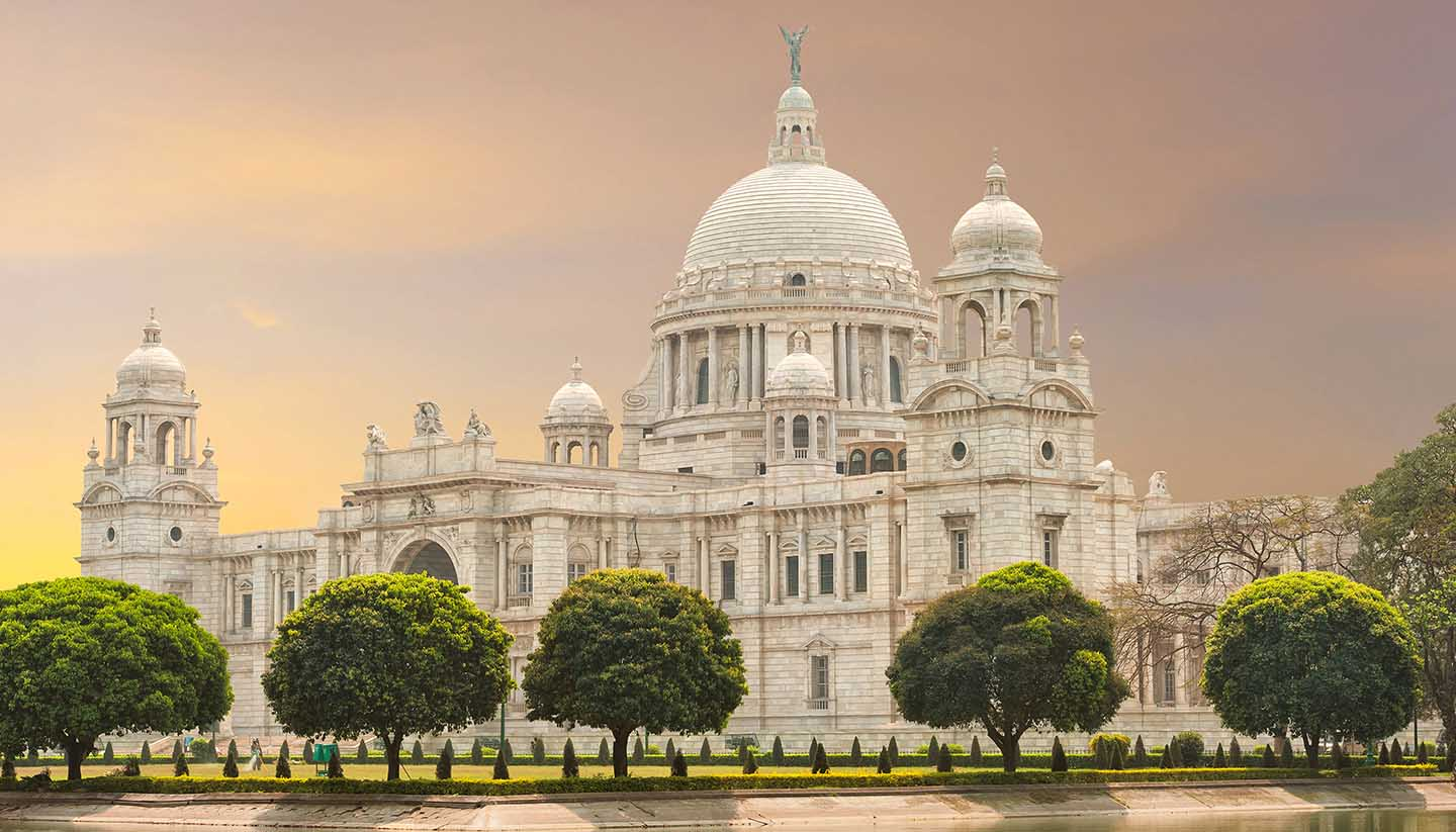India - Victoria Memorial landmark in Calcutta India