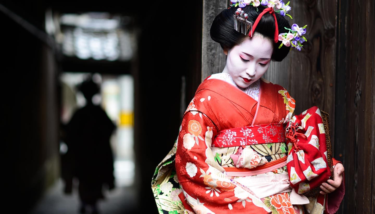 Japón - Young Maiko in Kyoto, Japan