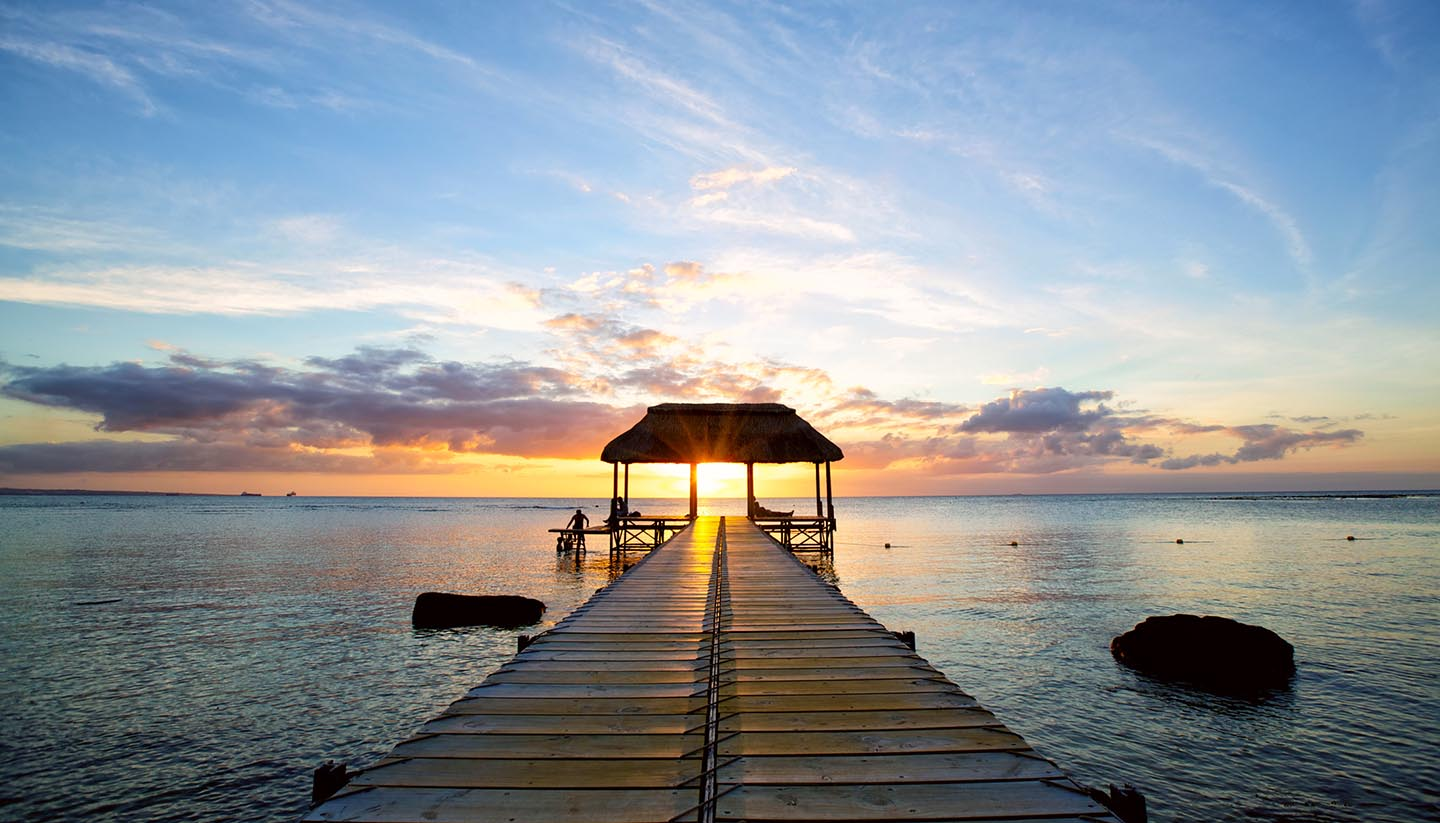 Mauricio - Beautiful Sunset in Mauritius Island