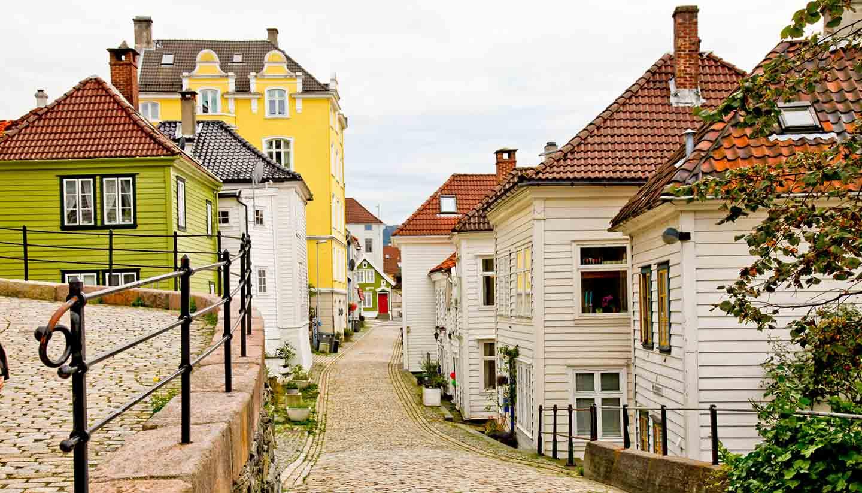 Bergen - Old Town Bergen City, Norway