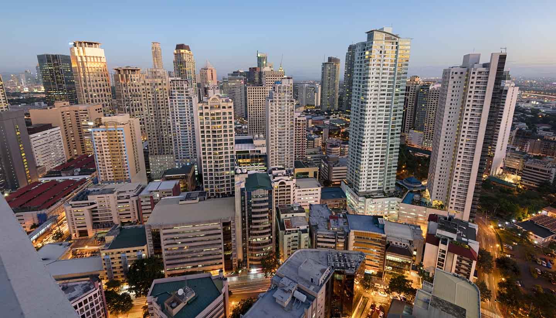 Filipinas - Makati Skyline, Manila, Philippines