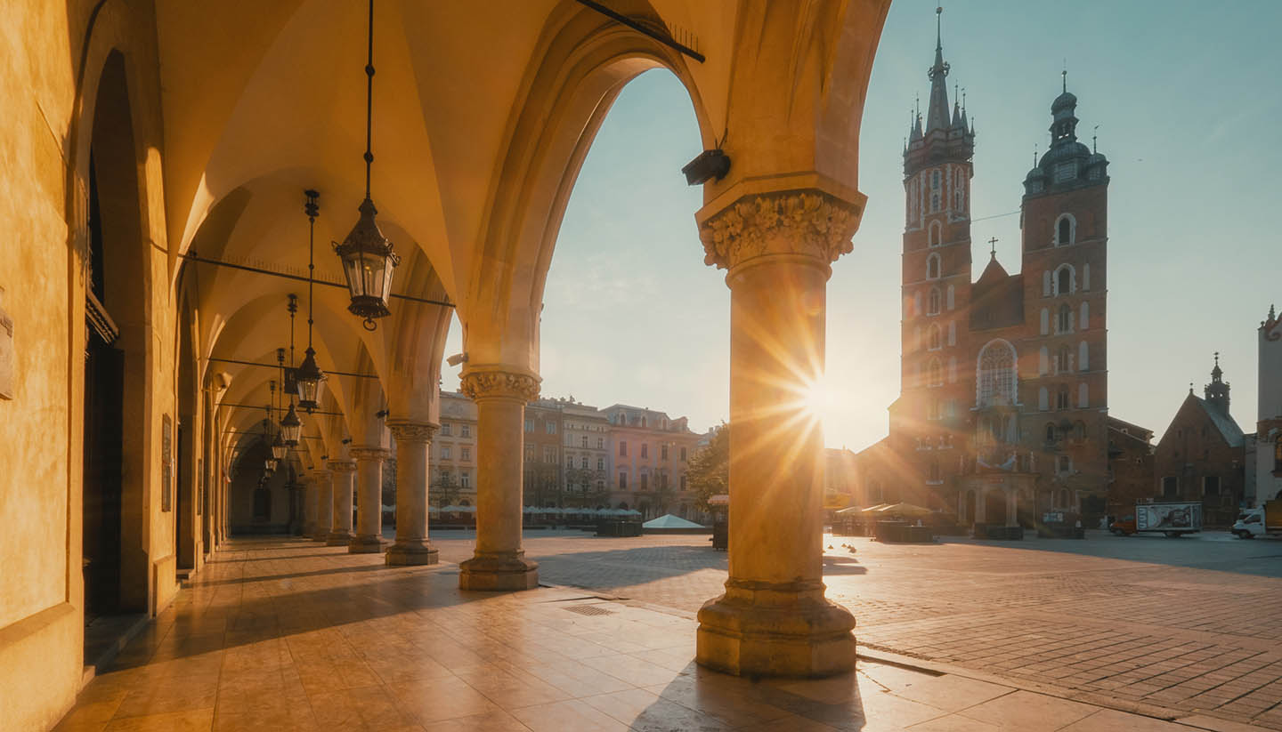 Polonia - Sunrise in Cracow. Poland