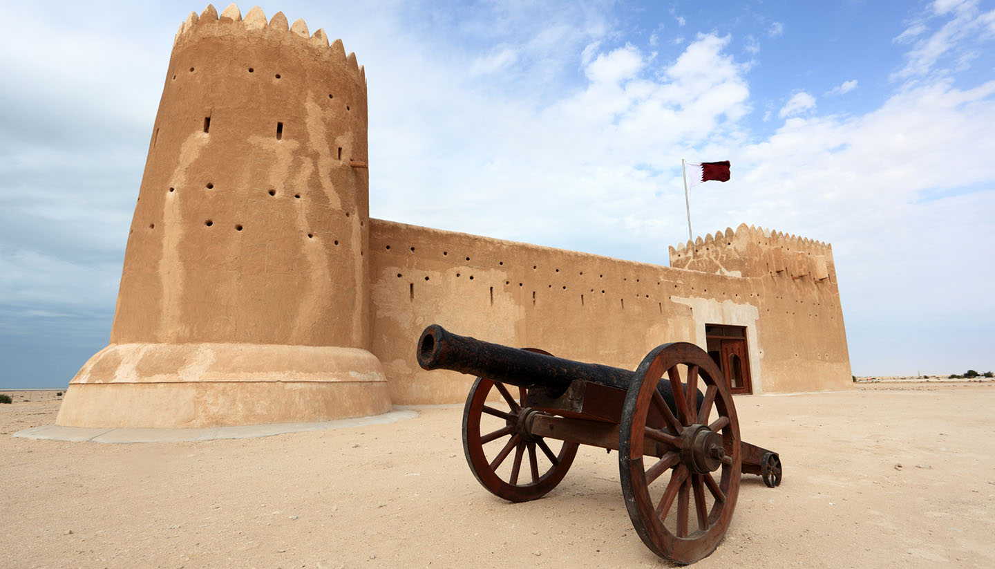 Catar - Al Zubarah fort in Qatar, Middle East