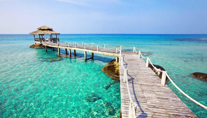 Seychelles - Pier and Gazebo, Seychelles