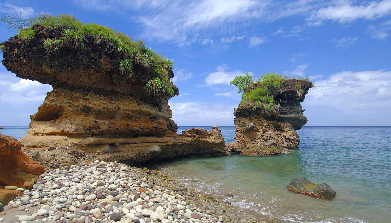 Santa Lucía - Volcanic Formations-St. Lucia