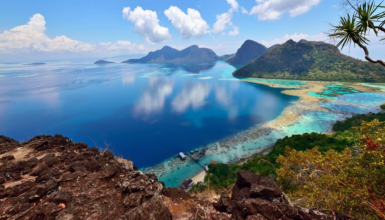 Malasia - View from Boheydulang Island, Sabah, Borneo