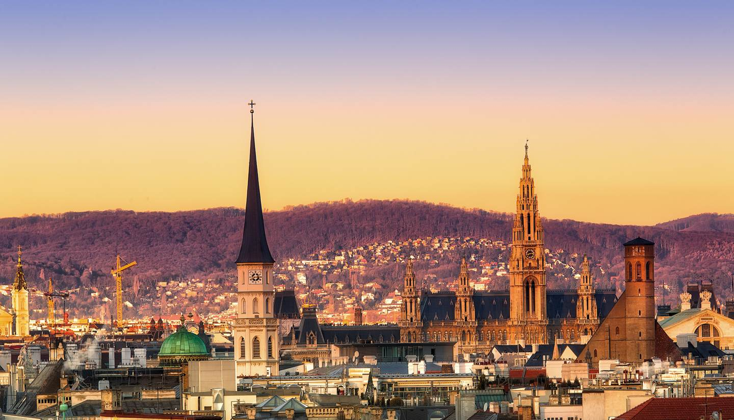 Viena - Sunset over Vienna