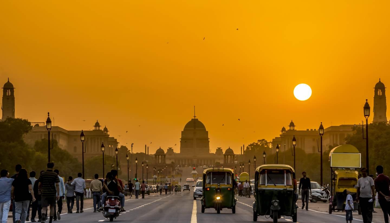 Nueva Delhi - Sunset behind the President Residence, New Delhi
