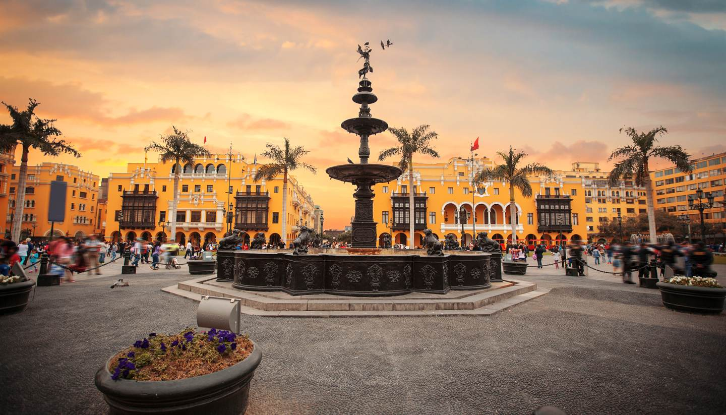 Lima - Panoramic view of Lima main square