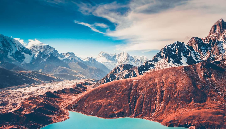 Nepal - View of Himalayas from Gokyo Ri, Nepal