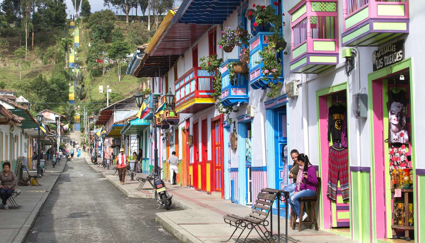 Colombia - Colourful houses in Salento