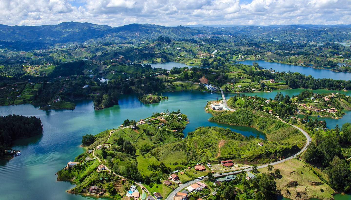 Colombia - View from Rock of Guatape in Medellin