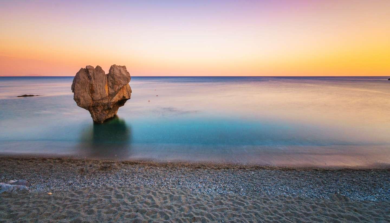 Grecia - Rock sculpture in Preveli, Crete, Greece