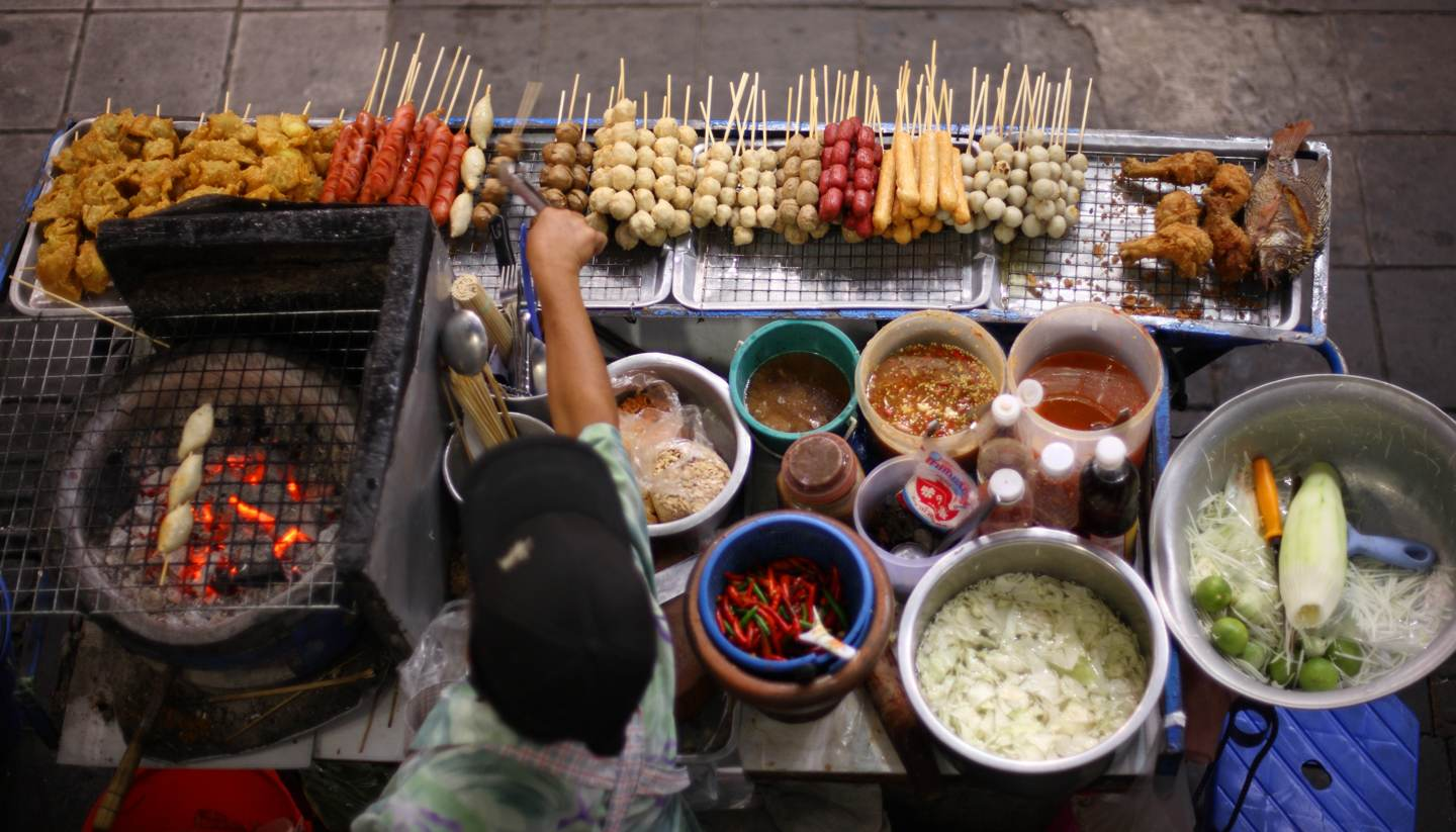 Bangkok - Street food vendor in Bangkok, Thailand