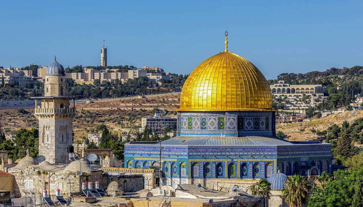 Israel - Mousque of Al-aqsa (Dome of the Rock) in Old Town - Jerusalem, Israel